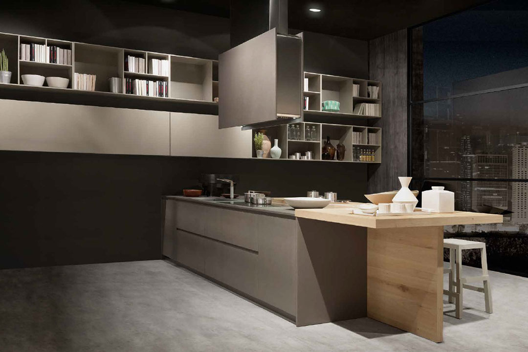 pedini living in the kitchen On pedini cabinets
